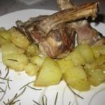 Costolette di agnello con patate