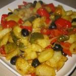 Patate e peperoni alla mediterranea
