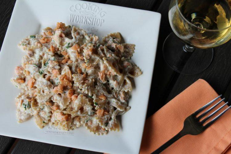 farfalle al salmone light