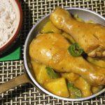 Cosce di pollo al latte di cocco e curry