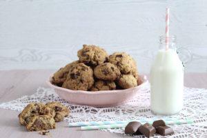 Biscotti veloci con farina integrale, zucchero di canna e cioccolato