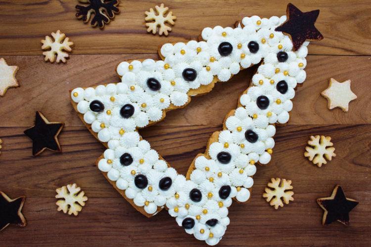cream tart albero di Natale