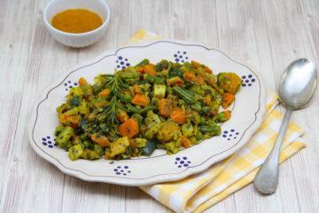 minestrone surgelato in padella