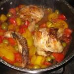 Pollo con peperoni alla romana