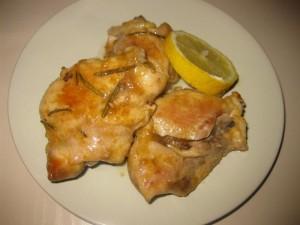 sovracosce di pollo al limone