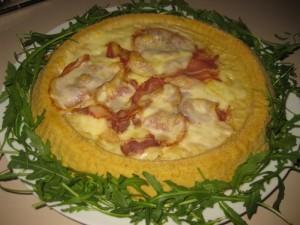 crostata di patate con pancetta e formaggio