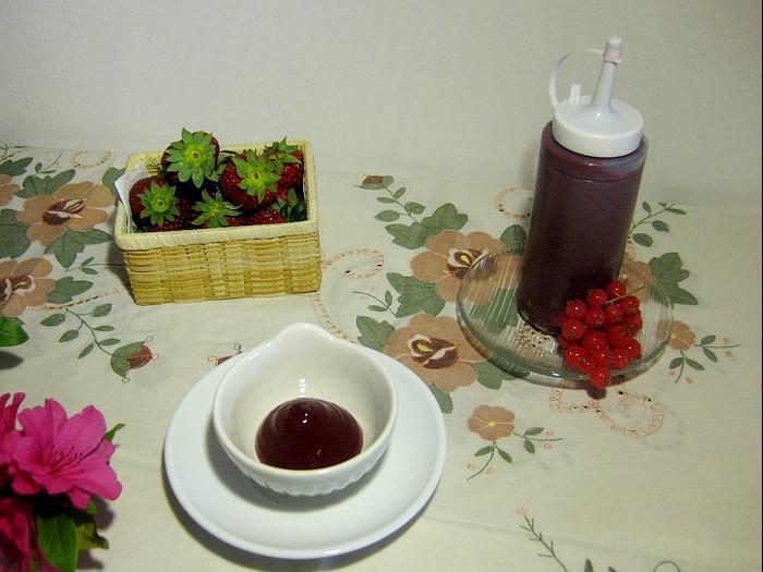 salsa ai frutti di bosco con agar agar