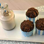 Muffin al cacao senza lattosio con granella di nocciole