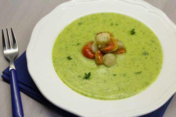 capesante su crema di zucchine