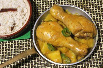 cosce di pollo al latte di cocco e pasta di curry
