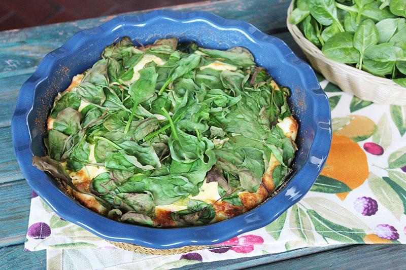 Frittata di ricotta con spinacini al forno