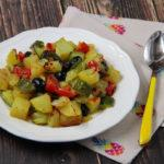 Zucchine e patate al forno
