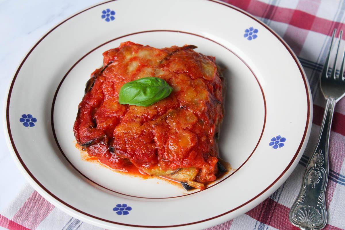 Parmigiana con melanzane al forno